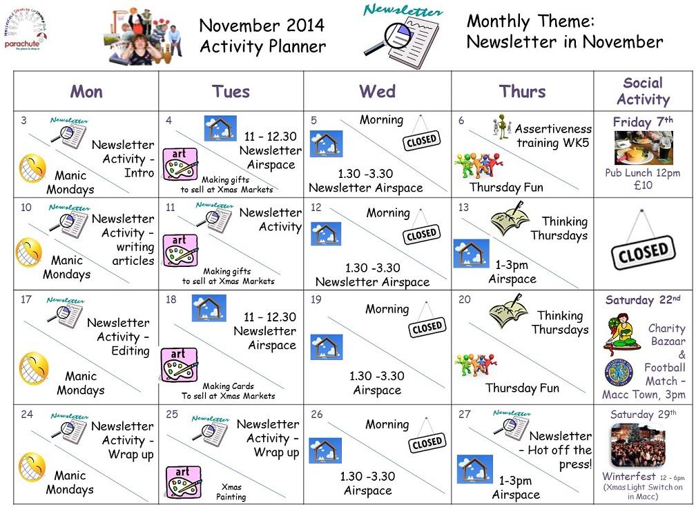 november activity planner susoparachute cvs cheshire east